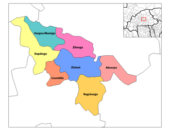 Absouya Department location in the province