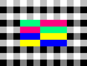 Dutch public broadcasting system - Test card used by NPO from 1978 until 1988