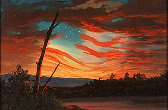 Battle of Fort Sumter - Our Banner in the Sky (1861) by Frederic Edwin Church