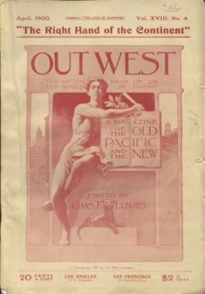 The Land of Sunshine - The cover of the April 1903 issue of Out West