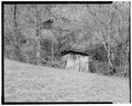 Outhouse, south elevation - Trump-Lilly Farm, Hinton, Summers County, WV HABS WVA,45-HINT.V,1-23.tif