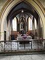 Páleč, kostel Narození Panny Marie, presbytář a vítězný oblouk.jpg