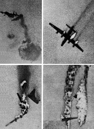 RIM-2 Terrier - Image: P4Y 2K being shot down by RIM 2 Terrier missile in 1956