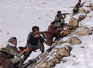 Kurdish separatism in Iran - KDP-I fighters.