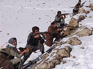 Kurdish separatism in Iran - KDP-I fighters.