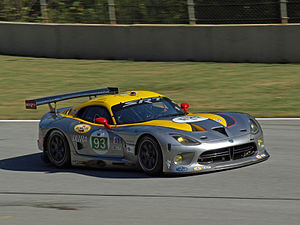 Marc Goossens - Goossens in the SRT Motorsports Viper GTS-R in qualifying for the 2012 Petit Le Mans