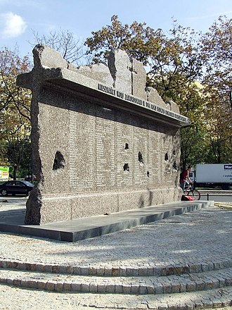 Nazi crimes against the Polish nation - Memorial to the Wola massacre, the systematic killing of around 40,000–50,000 Polish civilians and enemy combatants by Nazi German troops during the Warsaw Uprising of summer 1944