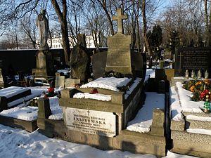 Bronisława Dłuska - Skłodowski family tomb in Warsaw