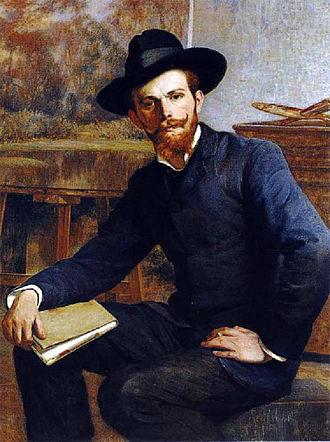 Pablo Burchard - Pablo Burchard.  Portrait by Pedro Lira