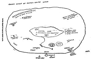 The Lost World (Conan Doyle novel) - Map of Maple-White Land