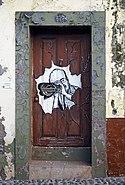 Painted door (Photographer). Funchal, Madeira