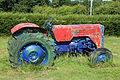 Painted tractor at Colgate West Sussex England 01.JPG