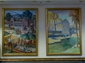 "Paintings ""Town of Kansas"" and ""Mill Scene"" at the Charles Evans Whittaker U.S. Courthouse; Kansas City, Missouri LCCN2010720518.tif"