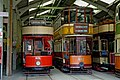 Paisley tram No. 68 and Glasgow tram No. 812 at Crich - geograph.org.uk - 1291018.jpg