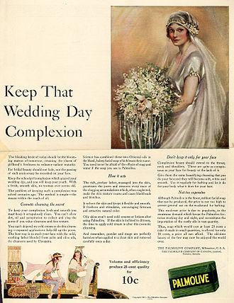Soap - A 1922 magazine advertisement for Palmolive Soap