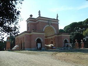 """Villa Doria Pamphili - The """"Arch of the Four Winds"""" on the site of the former villa Corsini"""