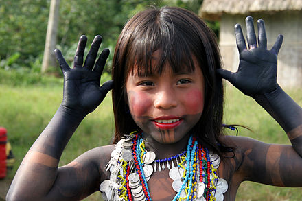 Embera girl dressed for a dance Panama Embera0605.jpg