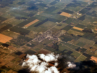 Parker City, Indiana - Parker City from the air, looking northeast.