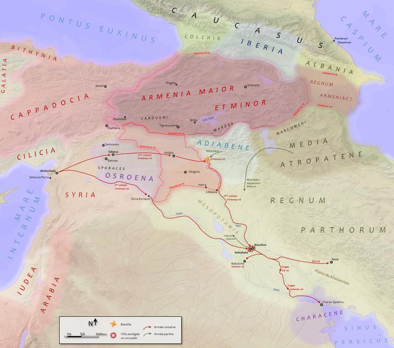 HISTOIRE ABRÉGÉE DE L'ÉGLISE - PAR M. LHOMOND – France - année 1818 (avec images et cartes) 800px-Parthian_war_trajan_115-116