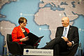 Patricia Lewis, left, the research director for international security relations and defense policy at Chatham House, moderates a question-and-answer forum with U.S. Army Chief of Staff Gen. Raymond T. Odierno 120606-A-AO884-019.jpg