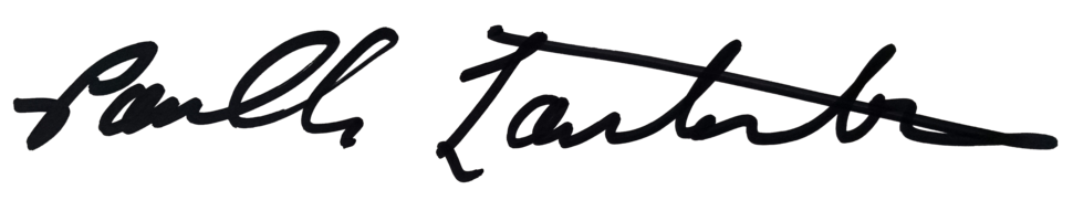 Cursive signature with Sharpee marker
