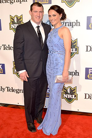 Paul Gallen - Gallen with partner Anne in 2012.