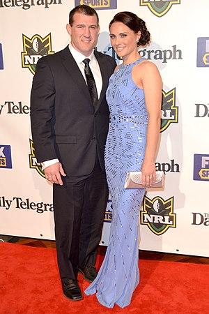 Paul Gallen - Gallen with partner Anne in 2012.