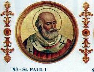 Pope Paul I - Image: Paul I