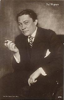 Paul Wegener German actor, writer and film director