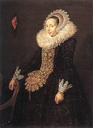Circle of Frans Hals: Portrait of Catharina Both van der Eem