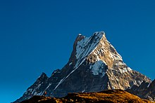 Peak of Mount Machhapuchhre of Nepal.jpg