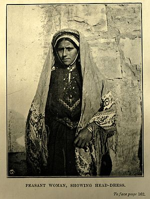 Palestinian costumes -  Village woman, circa 1900
