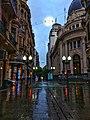 Peatonal Cordoba en Rosario un día de lluvia.jpg