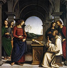 Perugino, Marienvision des Hl. Bernhard (Quelle: Wikimedia)