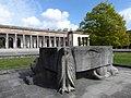 Peter Moilliet (1921–2016) Bildhauer, Die vier Evangelistensymbole, 1966, auf dem Friedhof am Hörnli.jpg