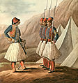 Peytier - Members of the Greek regular army at parade, 1830.jpg