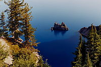 Phantom Ship rises above the surface of Crater Lake - Oregon.jpg