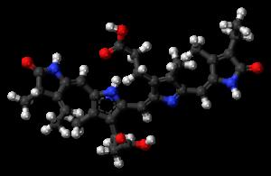Phycocyanobilin - Image: Phycocyanobilin 3D balls