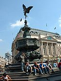 La fontaine de Lord Shaftesbury sur Piccadilly Circus