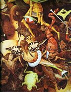 Pieter Bruegel the Elder- The Fall of the Rebel Angels - detail