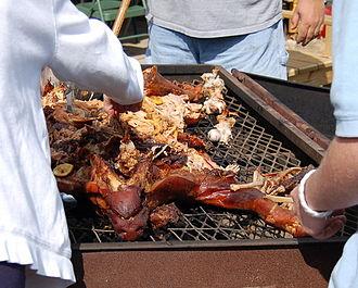 Pig pickin' - Image: Pig Pickin in NC