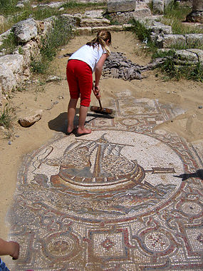 Mosaic floor of Byzantine church