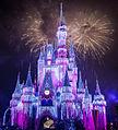 Pink illumination Cinderella castle.jpg