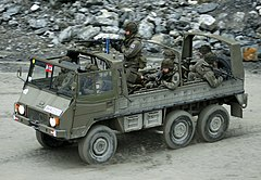 Austrian Pinzgauer during a military exercise