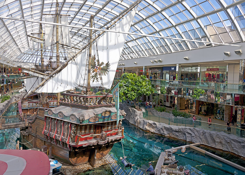 Pirate ship in the West Edmonton Mall