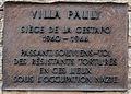 Plack lénks ouwen, Villa Pauly.jpg