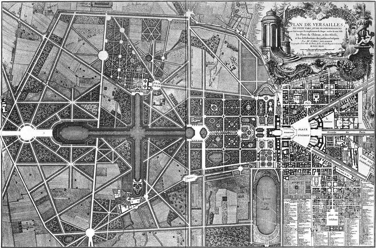 File plan de versailles gesamtplan von delagrife 1746 for Les jardins de la ville paris