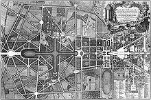Версаль.  План.  Parc de Versailles.