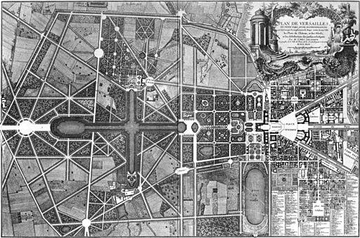 Plan de Versailles - Gesamtplan von Delagrife 1746