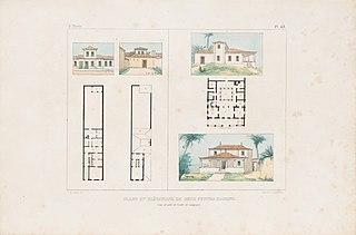 Plans et élévations de deux petites maisons, l'unne de ville et l'autre de campagne